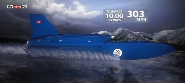 Iconic: The Bluebird K7 is reconstructed by a team of experts. This still image is taken from a sequence using 3-D graphics to recreate Donald Campbell's tragic final journey