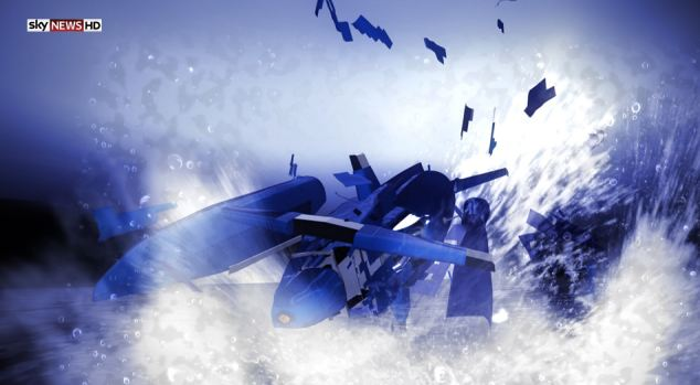 Shattered: Bluebird disintegrated into hundreds of pieces as it crashed into the water