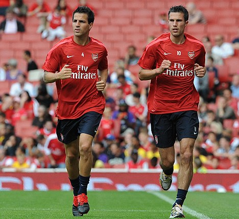 It's been a while: Fabregas (left) and Van Persie should be in the Arsenal XI