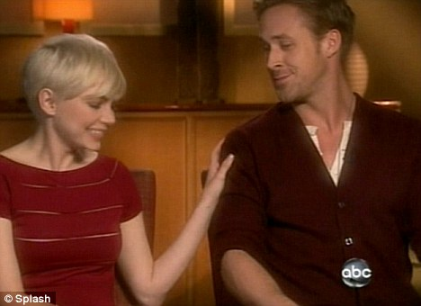 Close friends: Michelle also played down rumours of a romance with Blue Valentine co-star Ryan Gosling