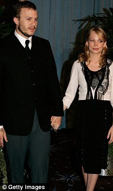 Heath Ledger with Michelle in 2006; the two had a daughter together