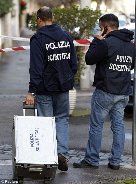 Forensic teams arrived at the Chilean embassy in Rome shortly after the explosion