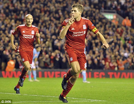 Fighting fit: Skipper Gerrard is in line to make his return to the Liverpool team