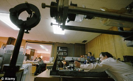 Workers produce artificial crystalline lens and eye cornea at the factory of the Eye Microsurgery Complex