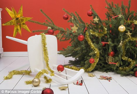 Danger: Falling off make-shift ladders and decorating the Christmas tree