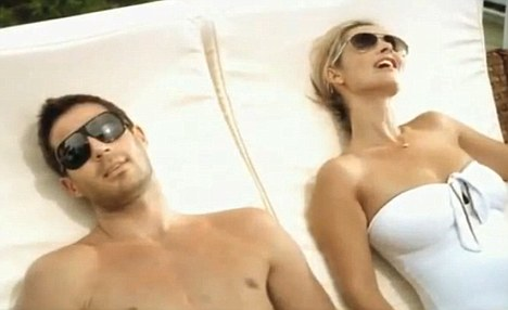 Cheesy: In second place was a commercial for holiday firm Thomas Cook, starring Jamie and Louise Redknapp, the co-host of Something for the Weekend