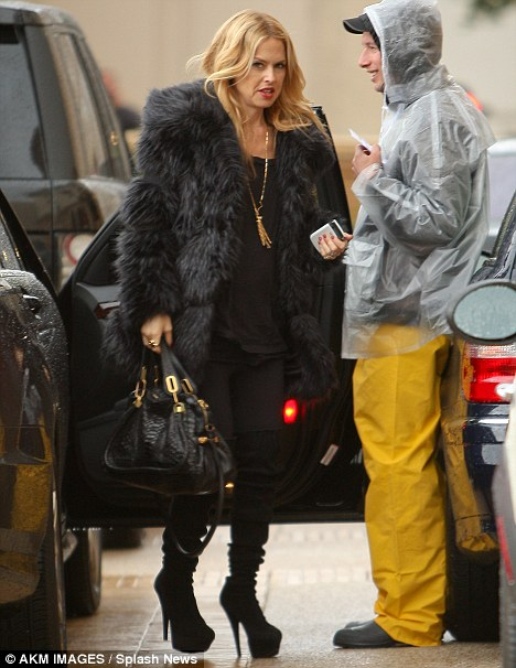 Retail therapy: Pregnant Rachel Zoe heads to Barney's for some pre-christmas shoe shopping