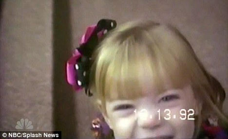 What a cutie: Actress Emma Stone show Jay Leno some of her childhood photos on last nights show