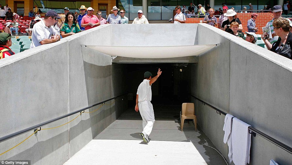 Australia captain Ricky Ponting walks back to the dressing room after they lost the second Ashes Test against England at Adelaide Oval