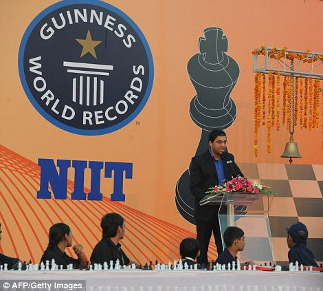 Star power: Among the competitors was world champion Vishwanathan Anand from India