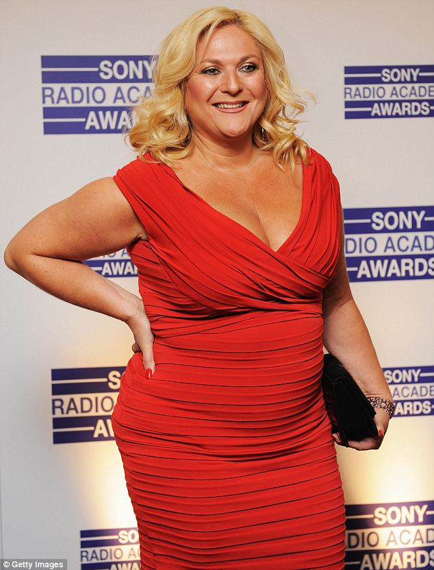 Changing shape: The presenter, pictured at the Sony Radio Awards in May 2009, claimed she wasn't bothered by her larger figure until medical advice told her otherwise
