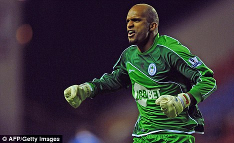 In form: Ali Al Habsi is shining on loan at Wigan from Bolton