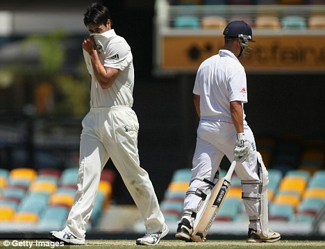 Having a stinker: Mitchell Johnson has been singled out for criticism following awful figures of 170-0