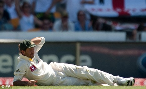 Head-scratcher: Ricky Ponting and his Australian team were left bruised and battered by England
