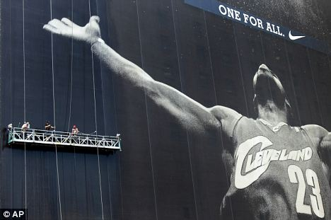 Idol threat: LeBron James was once worshipped as Cleveland's No 23