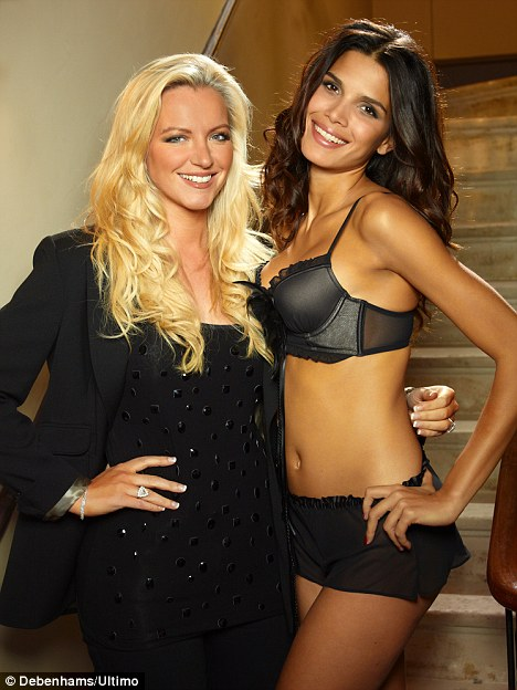 New face: Michelle unveiled Brazilian model Raica Oliviera as the body of Ultimo's new range last week