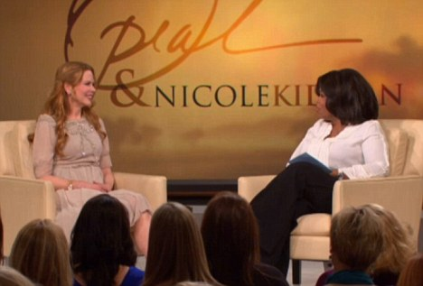 Talking it out: Nicole Kidman talked about her husband and their daughter Sunday Rose in her interview with Oprah