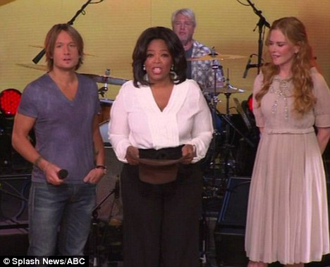Special guests: Keith Urban and Nicole Kidman appeared together on Oprah Winfrey's chat show today