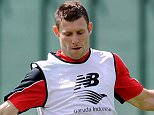 LIVERPOOL, ENGLAND - JULY 09:  (THE SUN OUT, THE SUN ON SUNDAY OUT) James Milner of Liverpool during a training session at Melwood Training Ground on July 9, 2015 in Liverpool, England.  (Photo by Andrew Powell/Liverpool FC via Getty Images)