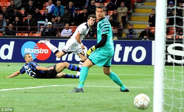 Inter-esting: Gareth Bale strikes at the San Siro to set up a cracker at home
