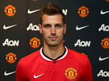 MANCHESTER, ENGLAND - JULY 13:  (EXCLUSIVE COVERAGE) Morgan Schneiderlin of Manchester United poses after signing for the club at Aon Training Complex on July 13, 2015 in Manchester, England.  (Photo by John Peters/Man Utd via Getty Images)