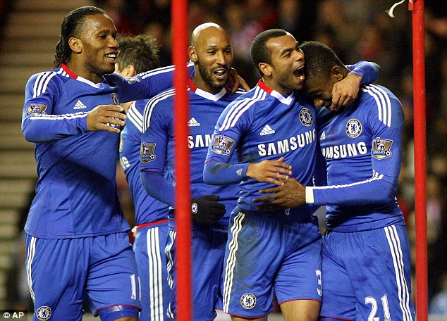 Response: Kalou's (right) strike followed just eight minutes after Lampard's equaliser