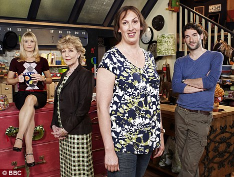 Hit sitcom: Hart plays the hapless title character in Miranda, which has just finished its second series