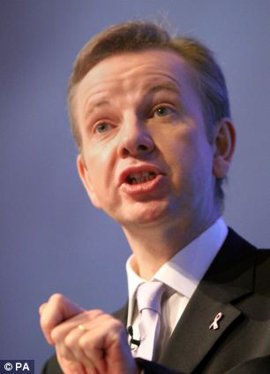 Failing: Michael Gove said Britain's education standards are still lagging behind other nations