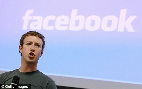 Market leader: Mark Zuckerberg's Facebook gets 150million monthly visitors, way ahead of the 60million who log on to MySpace