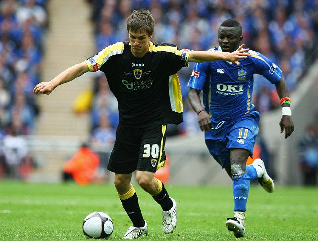 Been here before: A teenage Ramsey during's Cardiff's FA Cup final appearance at Wembley in May 2008