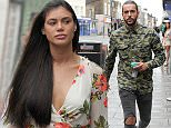 Pete Wicks and Verity Chapman film scenes for TOWIE in Brentwood. Verity still dresses for summer despite the rain.  Ref: SPL1077463  130715   Picture by: Jaimie / Splash News  Splash News and Pictures Los Angeles: 310-821-2666 New York: 212-619-2666 London: 870-934-2666 photodesk@splashnews.com