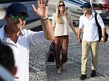 ISCHIA, ITALY - JULY 13:  Nicole Kempel and Antonio Banderas arrive at  2015 Ischia Global Film & Music Fest Day 1 on July 13, 2015 in Ischia, Italy.  (Photo by Venturelli/Getty Images)