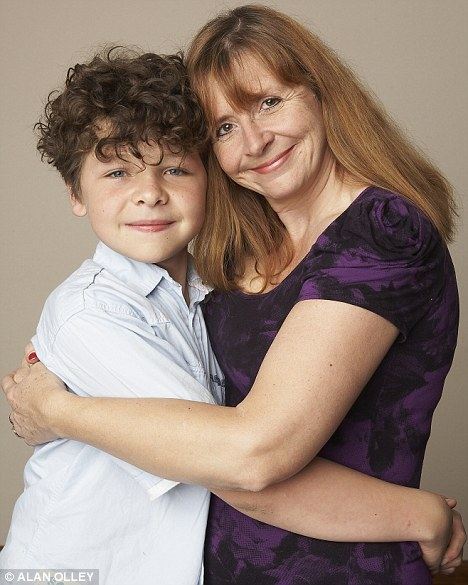 Threatened: Just William actor Daniel Roach, pictured with his mother Judi, was targeted by an internet stalker