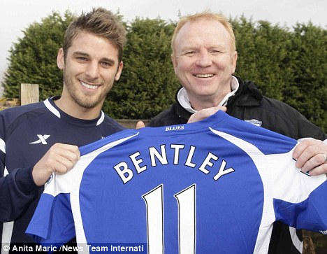 Unfulfilled potential: David Bentley (left) with Brimingham manager Alex McLeish