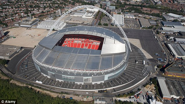 No go: Wembley has been requisitioned for the Olympics meaning the season's curtain-raiser will have to be played elsewhere