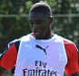 ST ALBANS, ENGLAND - JULY 07:  Yaya Sanogo of Arsenal during a training session at London Colney on July 7, 2015 in St Albans, England.  (Photo by Stuart MacFarlane/Arsenal FC via Getty Images)