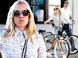 UK CLIENTS MUST CREDIT: AKM-GSI ONLY\nEXCLUSIVE: Actress Chloe Sevigny and a mystery man look to have a laid back Sunday and take their beach cruisers out for a spin.  The couple visited the Venice Marketplace and later rode their bikes to Gjelina to have dinner to close out the weekend.\n\nPictured: Chloe Sevigny\nRef: SPL1078196  120715   EXCLUSIVE\nPicture by: AKM-GSI / Splash News\n\n