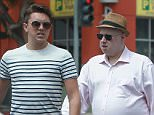 """EXCLUSIVE. Coleman-Rayner. Los Angeles, CA, USA.  July 8, 2015 British comedian Matt Lucas is seen exiting a car in Beverly Hills with a handsome, much younger man. The pair were seen shopping at Jimmy Au's for Men 5' 8"""" and Under Clothing store on Brighton Way in Beverly Hills. CREDIT LINE MUST READ: Coqueran/Coleman-Rayner Tel US (001) 310-474-4343 - officeÜ Tel US (001) 323 545 7584 - cell www.coleman-rayner.com."""