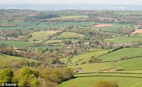 The village of Tipton St John, overlooking the vale of the River Otter, is scene of the goat killings