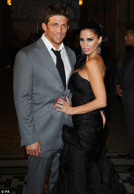 Divorcing: Alex was dumped by his ex Katie Price in January and he said last week he'd sworn off glamour models