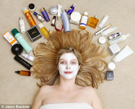 The price of beauty: Naomi Reilly has had to downgrade her beauty routine