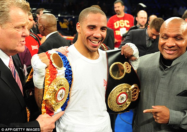 The smile of a champion: Ward celebrates after his victory