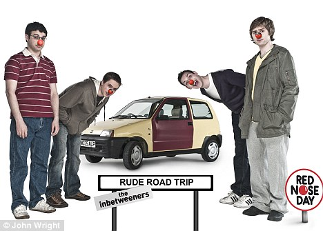 Help them out: Fans of the show can suggest rude place names for them to visit on the Inbetweeners Facebook page