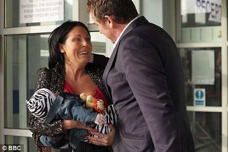 Reunited: Kat and Alfie Moon - played by Jessie Wallace and Shane Richie - have been involved in emotional scenes in EastEnders as their infant son was returned to them