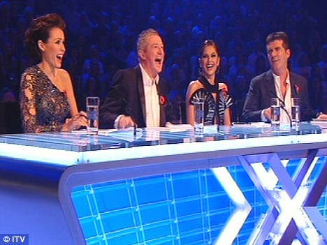 As it was: Dannii on the panel alongside Louis Walsh, Cheryl Cole and Simon Cowell