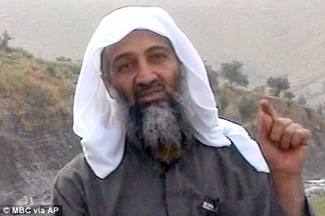 Gruesome images: The photos taken after bin Laden's death show he was blasted in the chest and then in the face