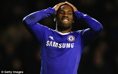 Feeling blue: Drogba has said that while the promoted youngsters will be good players, they need time to adapt to life at the top