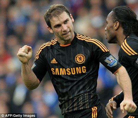 Signing on? Branislav Ivanovic (left) is close to penning a new new four-year deal at Stamford Bridge