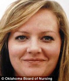 Disciplined: Amber Van Brunt has lost her nursing license until 2030 after admitting to an affair with a married terminally ill patient