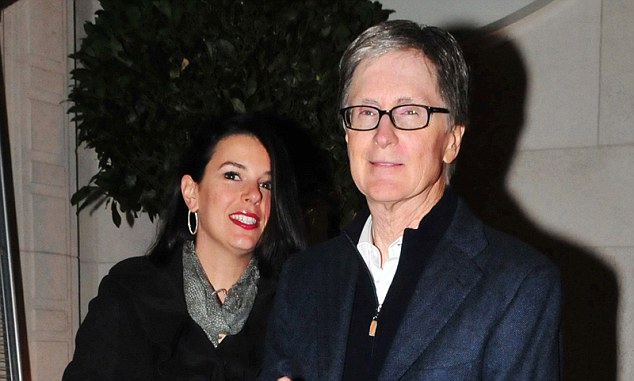 Talks: John Henry with his wife Linda in London on Tuesday night